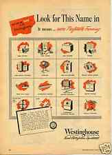 1948 Westinghouse Household Farm Equipment Print Ad