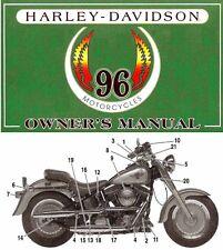 New listing 1996 Harley-Davidson All Models Owners Manual -Xlh-Flstf-Fxsts-Fxdwg-Fl ht-Flhtcu
