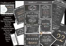 Chalkboard  Wedding Invitation Kit on CD
