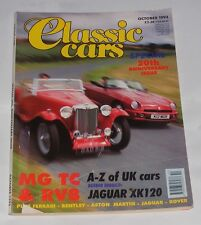 CLASSIC CARS MAGAZINE OCTOBER 1993  SPECIAL 20TH ANNIVERSARY ISSUE/MG TC & RV8