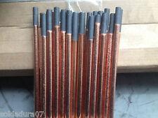 6 Elettrodi di grafite Rivestito di rame 10 x305 mm Sgorbia Taglio Arco Aria