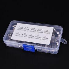 100Pcs 250V 0.25-6A Blow Glass Tube Fuses 5x 20mm Assortment Kit Tube Fuse HF