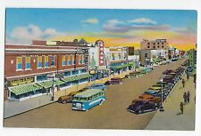 Vintage Postcard Grand Island NE Third Street Looking East Alexander Furniture
