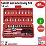 46 pcs 1/4 inch Drive Impact Socket wrench tool kit car tool set Auto Repairing