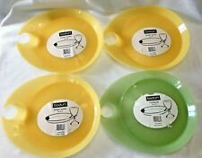Bodum Turner Picnic Plates & Drink Holder Party Dish Plastic 3 Yellow 1 Green