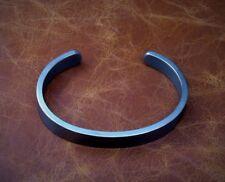 "Men's Solid Sterling 925 Silver Heavy ""Oxidized Silver"" Torque Bangle Bracelet"