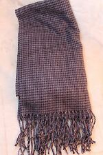 Dockers Plaid Scarf Gray Black Charcoal Gray Fringed