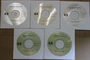 HP Microsoft Windows XP Pro SP1 5 CD Disk Lot Professional
