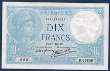 FRANCE - 10 FRANCS MINERVE Fayette n° 7.27 du 9=1=1941.SO en NEUF  R.83606 660