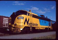 Original Rail Slide - ONT ONR Ontario Northland 1985 North Bay ON 9-7-1988  FP7M