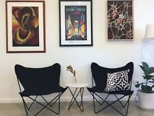 Black canvas butterfly chairs
