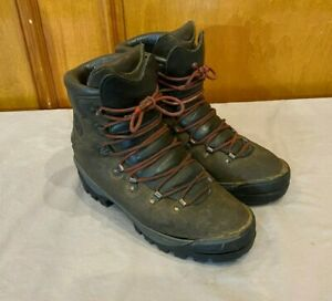 Merrell Heavy Duty Brown Leather Hiking Boots w/Vibram Soles US Men's 10 GREAT