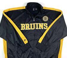 Majestic Boston Bruins NHL Mens 4XL Full Zip Front Lined Jacket Black Gold