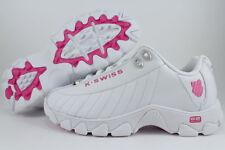 K-Swiss St329 CMF White/shocking Pink Memory Foam Trainer Leather US Women Sizes 8