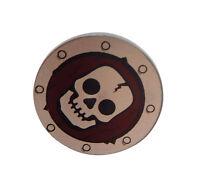Lego 8x rundes Ritterschild mit Totenkopf round Shield with Skull Neu Castle New