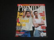 1999 AUGUST PREMIERE MAGAZINE - BRAD PITT & EDWARD NORTON - SP 4023