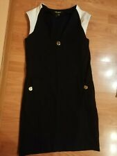 TORY BURCH black  dress,size IT40 ,fit to UK 10-12, gold buttons with logo