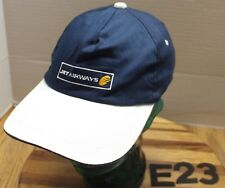 JET AIRWAYS HAT BLUE/WHITE ADJUSTABLE PLANE PILOT AIRLINES VERY GOOD COND E23