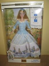 Peter Rabbit 100 Year Celebration Barbie 2001 Doll book blonde Beatrix Potter