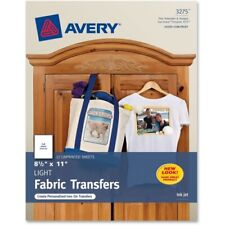 Avery T-Shirt Transfers  8.5x11 Pack of 12 (03275)