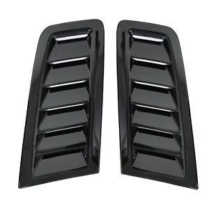 For Ford Focus RS ST MK2 style ABS plastic bonnet vents Hood Trim Gloss Black