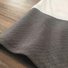 Restoration Hardware Vintage Wash Diamond Matelasse Bed Skirt in Graphite Twin