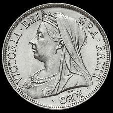 1900 Queen Victoria Veiled Head Silver Half Crown, A/UNC