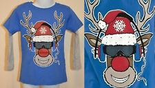 NEXT BOYS 3 YEARS CHRISTMAS RUDOLPH LONG SLEEVED TOP NEW 100% COTTON