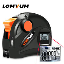 Lomvum 2 in1 Digital Laser Distance Meter Range Finder Tape Measure USB Charge