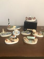 Sebastian Miniatures Lot Of 7 Town Signed Woody Baston See Photos Rare