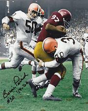 BERNIE PARRISH  CLEVELAND BROWNS  1964 NFL CHAMPS   ACTION SIGNED 8x10
