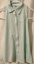 Girl's,Old Navy,Summer Dress Sleeveless Trapeze Swing Fit Check Pastel Size 4T