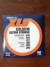D'ADDARIO Guitar Strings Electric XLS Regular Light EXLS510