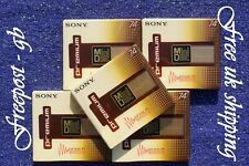 More details for pack of 5 sony mdw-74 premium digital audio minidiscs - 74 minutes - shock proof