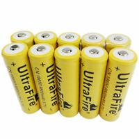 10pcs 18650 Battery 3.7V Li-ion 9800mAh Rechargeable Batteries For Flashlight