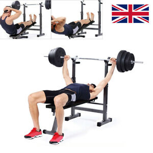Folding Weight Lifting Bench Workout Exercise Barbell Home Gym Fitness Training