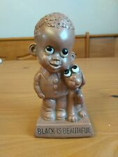 """1970 W&R.Berries Co's-""""Black Is Beautiful"""" Child w/his Dog Figure"""