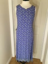 April Cornell for Cornell Trading periwinkle sundress,button back, Sz S