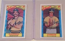 1979 Kellogg's 3D trading card team set Oakland As John Johnson Mario Guerrrero