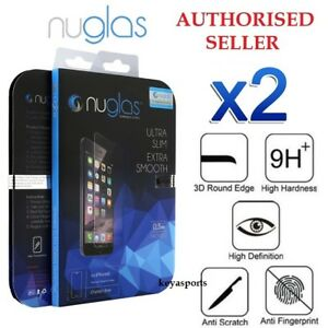 2x NUGLAS Tempered Glass Screen Protector iPhone 13 12 11 Pro XS Max Mini 8 7 6+