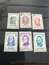 STAMPS -FRANCE 1956 FAMOUS MEN USED SET OF 6