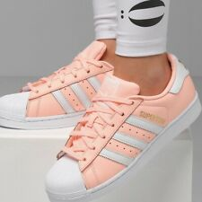 Adidas Superstar W Damen Sneaker Leder Schuhe Leather Shoes Women koralle coral