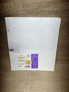 Hallmark AR6555 Self-Adhesive Refill Pages for Large Post-Bound Albums - New