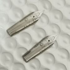 2Pcs Stub 0.7mm 5# Silver Nib for Jinhao 992 165 500 Shark Swan Pen