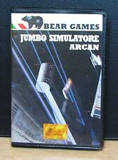 JUMBO SIMULATORE + ARCAN - MSX - BEAR GAMES - NUOVO NEW OLD STOCK - 1985 Vintage