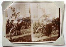 PHOTO 1897 famille GARIN PELTIER LA POSSONNIERE dame à vélo jupe culotte F191