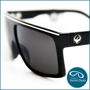 NEW Dragon Fame Jet Black frame Grey Lens (720-1496) Sunglasses