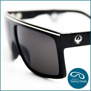 NEW Dragon Fame Jet Black Grey Lens (720-1496) Sunglasses