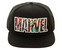 Bioworld Marvel Comic Logo Sublimated Bill Snapback Cap Hat