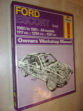 FORD ESCORT HAYNES WORKSHOP MANUAL PETROL XR3 L GL +35 55 VAN's 1980-1981>